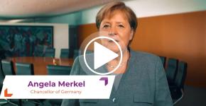 video message Merkel